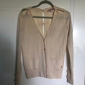 Juicy Couture Cream Cardigan